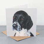 English pointer greetings card