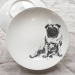 Sitting Pug - Large Bowl