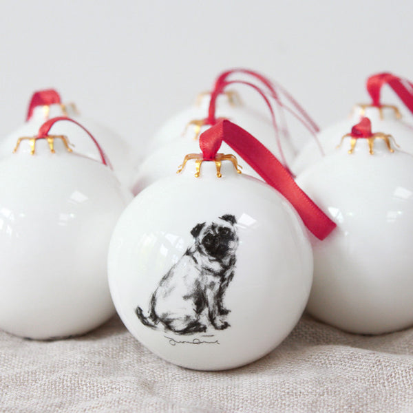 """Pug"" Christmas Bauble"