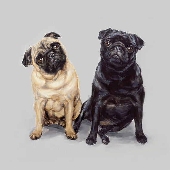9. Pug Pair Limited Edition Print