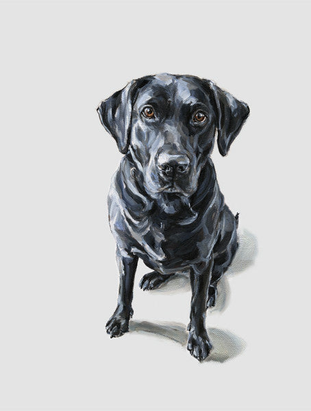 """Catch"" Black Labrador Limited Edition Print"