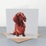 Tan Dachshund Fine art card