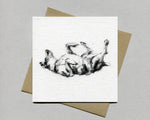 """Rolling"" Terrier Fine art card"