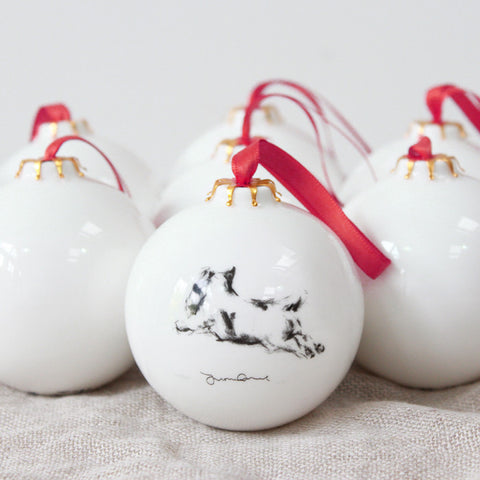 Running Terrier Christmas Bauble