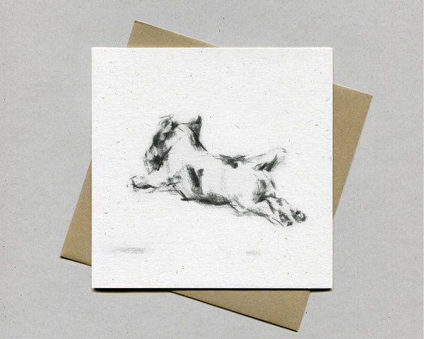 """Running"" Terrier Fine art card"