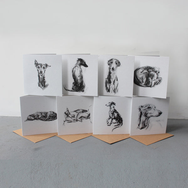 A Set of 8 Sighthound Cards