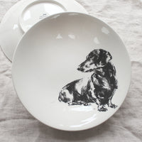 Sitting Dachshund - Large Bowl