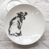 Looking back Terrier - Large Bowl
