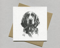 Springer portrait Fine art card