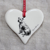 Staffy Bull Terrier Heart