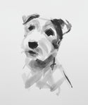 Terrier ink on paper - Original Dog Drawing