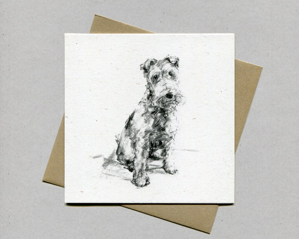 The Scamp terrier Fine art card