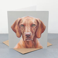 Vizsla Fine art card