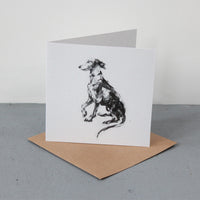 """Please"" Whippet  Fine art card"