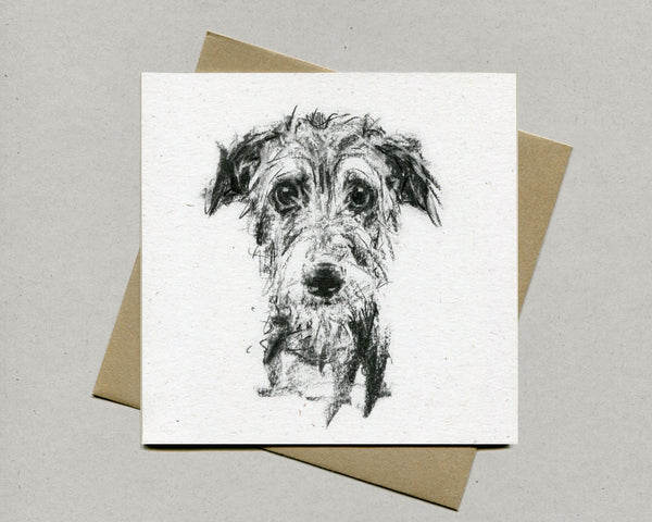 Winsome Lurcher Fine art card