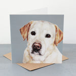 Yellow Labrador Fine art card