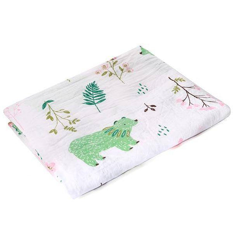 Image of 100% Cotton Baby Wrap Soft Newborn Blankets - Happy Trends Outlet