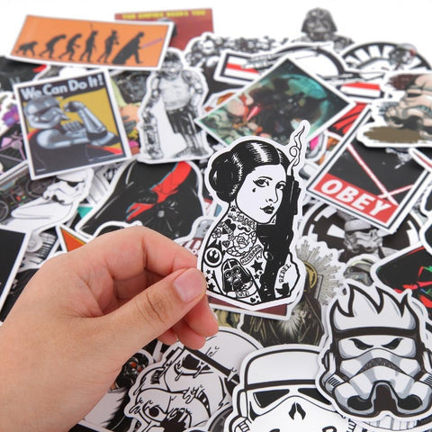 100 Pieces Star Wars PVC Waterproof Fun Stickers - Happy Trends Outlet