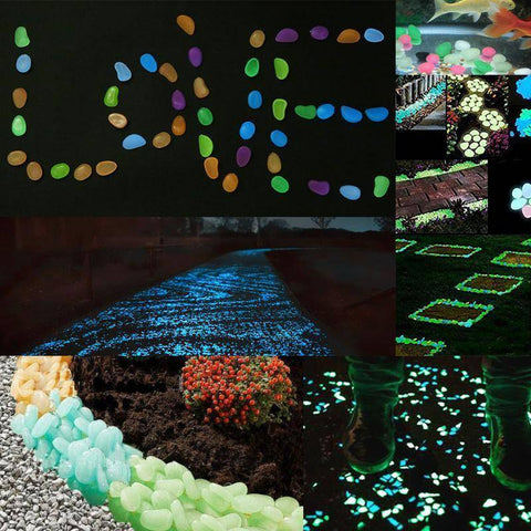 100Pcs Glow In The Dark Garden Pebbles - Happy Trends Outlet
