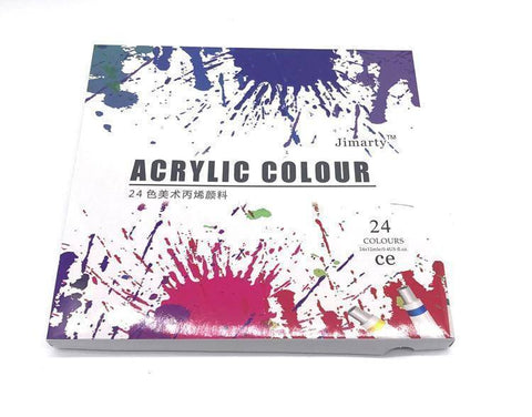 24Colors 12ML /Tube Acrylic Paints set - Happy Trends Outlet