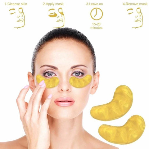 24k Gold Gel Eye Mask Eyelid Patch Anti Wrinkle Eye Care gold - Happy Trends Outlet