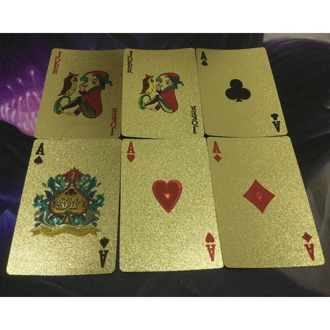 Image of 24K GOLD-PLATED PLAYING CARDS WITH CASE - Happy Trends Outlet