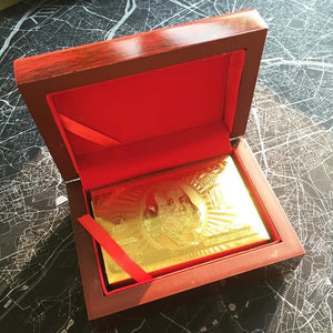 24K GOLD-PLATED PLAYING CARDS WITH CASE - Happy Trends Outlet