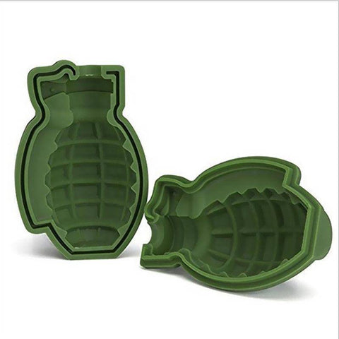Image of 3D Ice Cube Mold Grenade Shape - Happy Trends Outlet