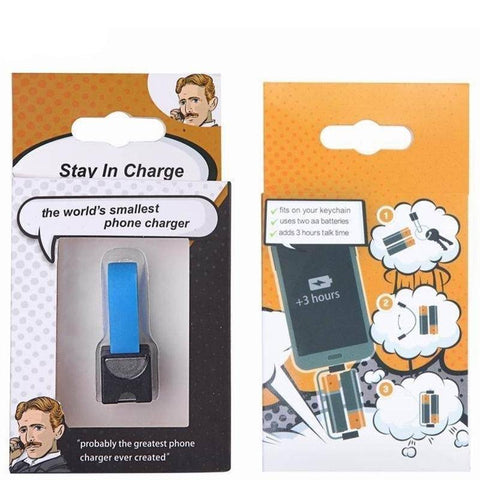 Image of AA/AAA Battery Emergency Cellphone Charger - Happy Trends Outlet