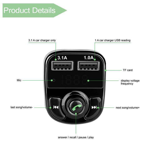 Image of All-in- One Wireless Bluetooth Car Kit - Happy Trends Outlet