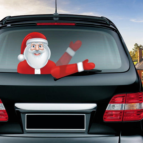 Image of Christmas Car Back Window Wiper Sticker - Happy Trends Outlet