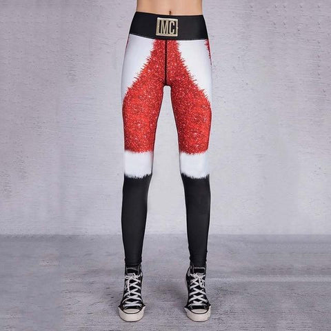Image of Christmas Theme Print Leggings - Happy Trends Outlet