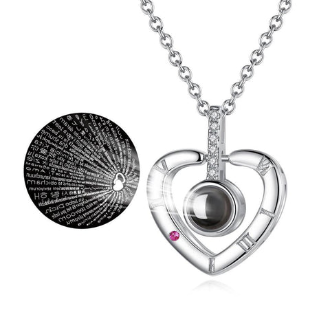 "Image of ""I love you"" Projection Pendant Necklace - Happy Trends Outlet"