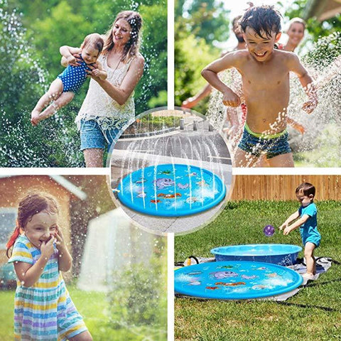 Inflatable Spray Water Cushion Toy Outdoor Swimming Tub - Happy Trends Outlet