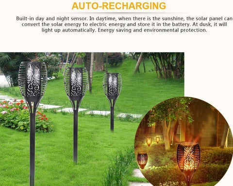 Image of LED Solar Flame Light Flameless Waterproof Torch - Happy Trends Outlet