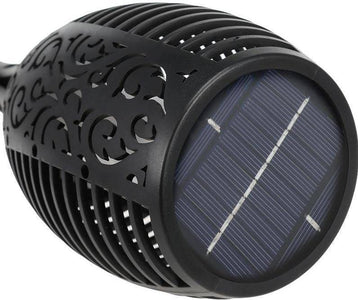 LED Solar Flame Light Flameless Waterproof Torch - Happy Trends Outlet