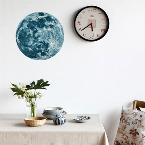 Image of Luminous Moon Cartoon 3D Wall Sticker - Happy Trends Outlet