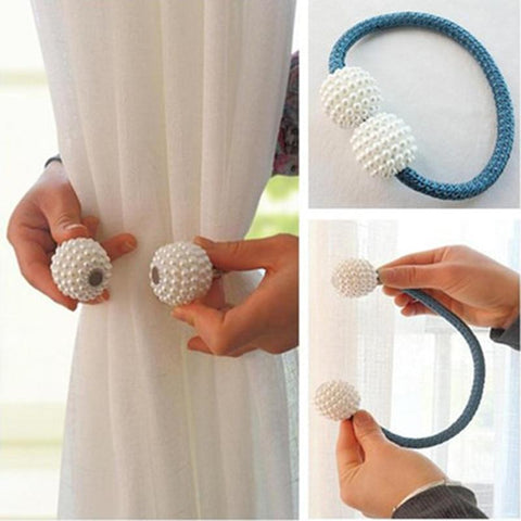 Image of Magnetic Pearl Curtain Tie Backs - Happy Trends Outlet