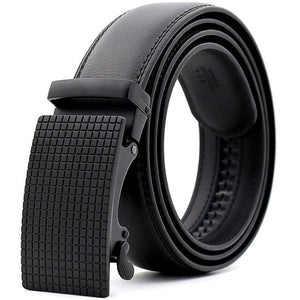 Mens Adjustable Buckle Mechanism Leather Belt - Happy Trends Outlet