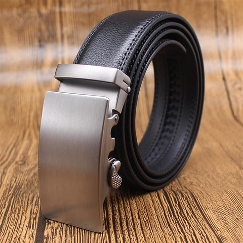Image of Mens Adjustable Buckle Mechanism Leather Belt - Happy Trends Outlet