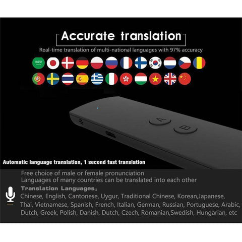 Image of Mini Wireless Two-Way Real Time Bluetooth Language Voice Translator - Happy Trends Outlet