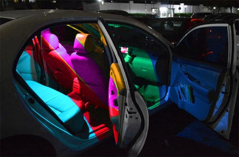 Multi-color Car LED Lights with Remote Control 194 168 501 - Happy Trends Outlet