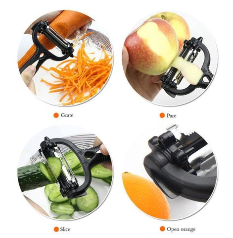 Image of Multi-Purpose Fruit & Vegetable Peeler & Zester - Happy Trends Outlet
