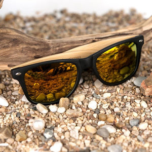 Polarized Vintage Sunglasses with Bamboo Legs - Happy Trends Outlet