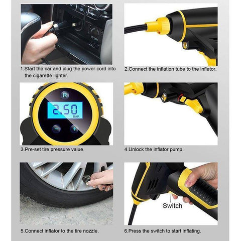 Image of Portable Car Air Pump - Happy Trends Outlet