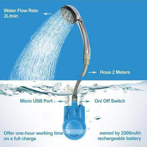 Portable outdoor shower - Happy Trends Outlet