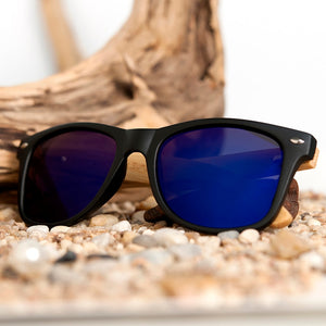 Polarized Vintage Sunglasses with Bamboo Legs