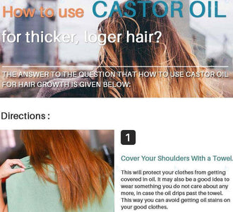 Pure Castor Oil Hair Growth Serum - Happy Trends Outlet