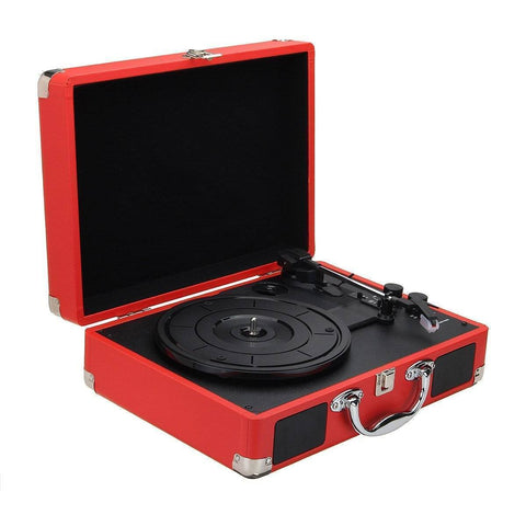 Image of Retro Bluetooth Suitcase Turntable - Happy Trends Outlet