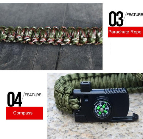 Survival Tactical Bracelet With Knife - Happy Trends Outlet
